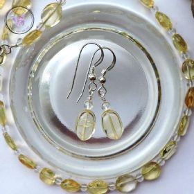 Citrine & Clear Quartz Earrings